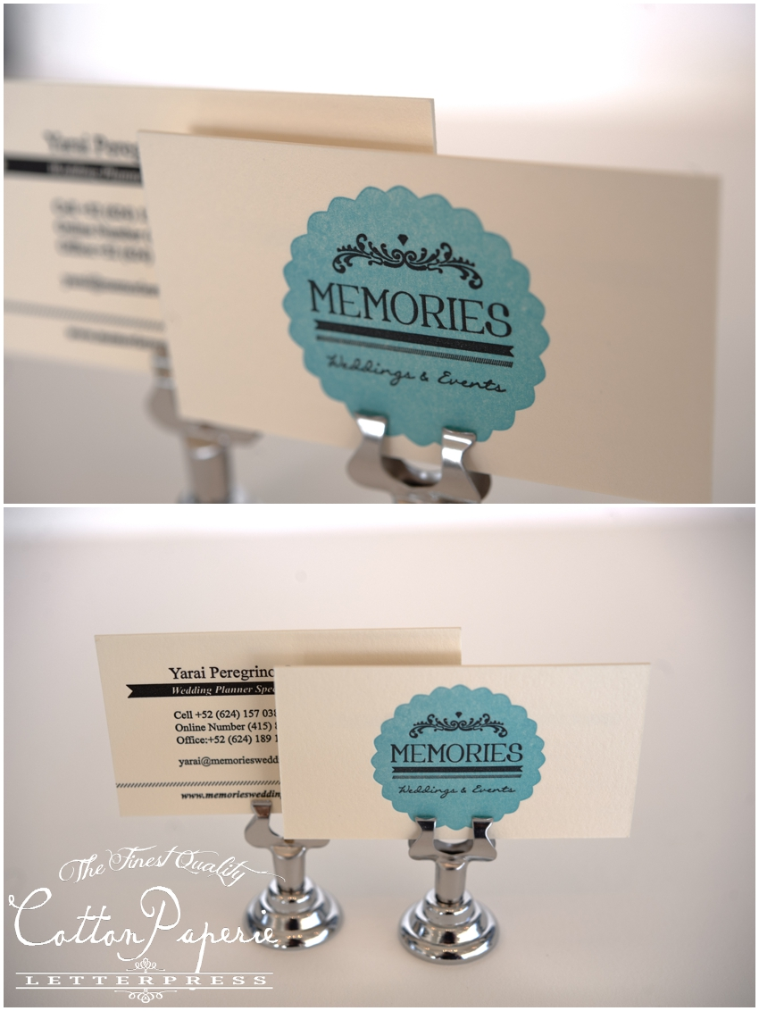cottonpaperie letterpress business cards
