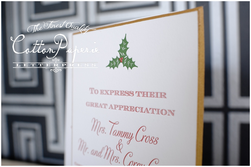 cottonpaperie letterpress christmas cards