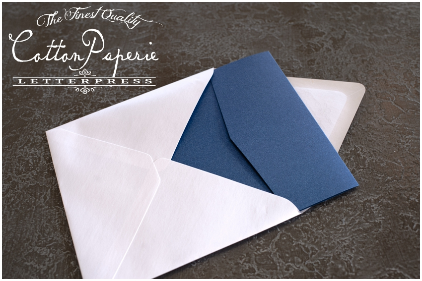 cottonpaperie letterpress wedding invitations with metallic envelopes and folios, new york skyline