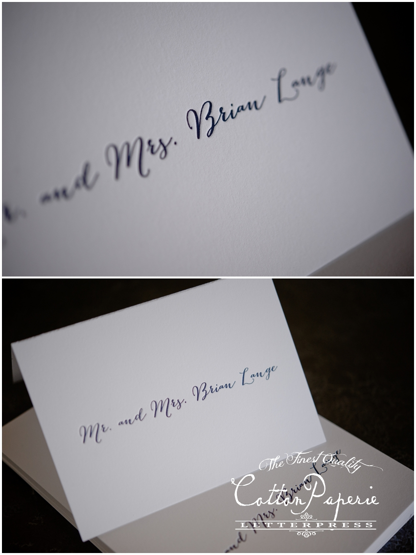 cottonpaperie letterpress notecards with custom liners