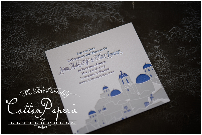cottonpaperie letterpress save the date cards
