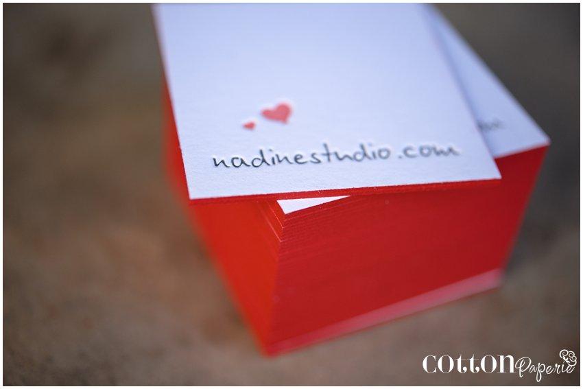 Blog Nadine graphy Business Cards